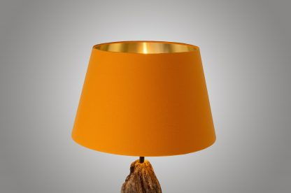 Lampenschirm 45cm/35cm Orange; Innen Gold; Licht an